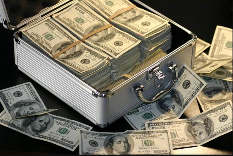 suitcase full of $100 dollar bills
